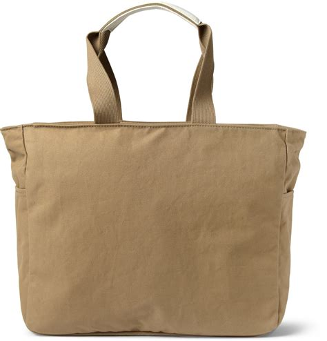 Tote Bag Canvas Murah 2 porter beat leather trimmed cotton canvas tote bag in brown for lyst