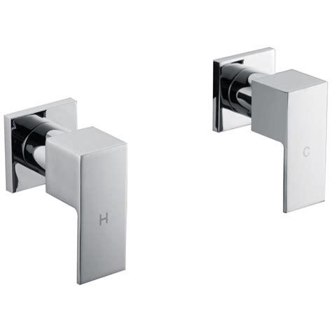 Shower Bath Mixer Set square shower amp bath mixer tap set in chrome buy shower taps