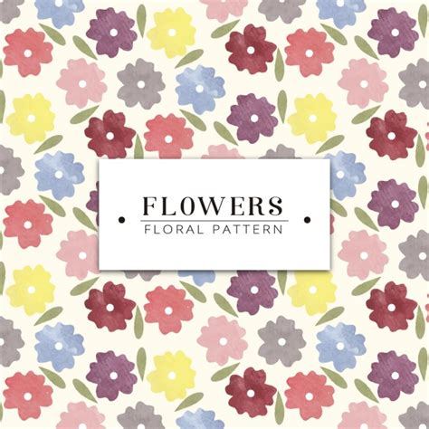 watercolor flowers pattern vector free download watercolor flowers pattern design vector free download