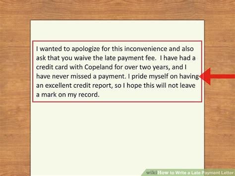 Request Letter Not To Deduct Loan From Pay How To Write A Late Payment Letter 9 Steps With Pictures