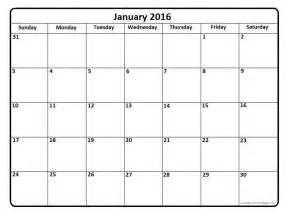Page Blank Calendar Template by January 2016 Calendar January 2016 Calendar Printable