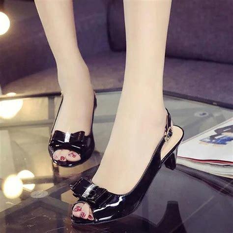 Sandal Big Heels Fladeo M 2 sandals womens peep toe low heel sandals bow