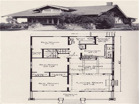 One Story House Plans With Porches California Bungalow House Plans Small Bungalow House Plans