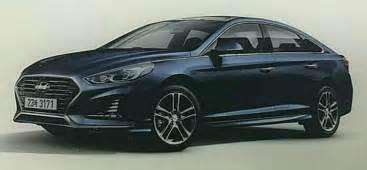 Hyundai Parts Expensive 2018 Hyundai Sonata Leaked Adopts Sporty Look