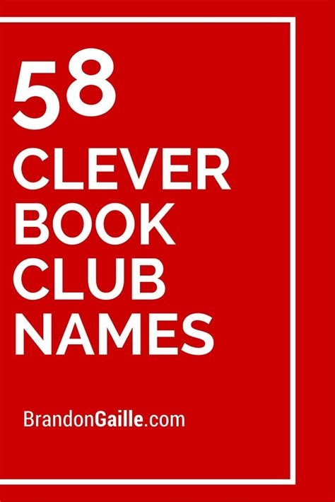 clever names the 25 best ideas about book club names on anime names list quotes on
