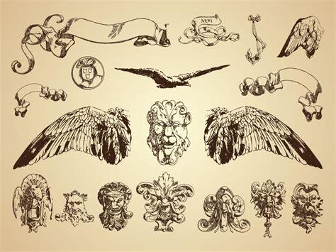 vintage illustration antique demons