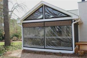 Instant Up Screen House With Awnings Weather Proof Your Patio Or Porch Clear Vinyl Plastic