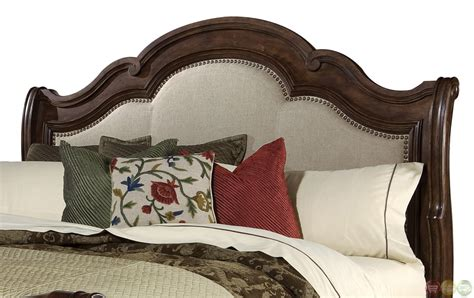 fabric sleigh bed coronado california king fabric upholstered sleigh bed