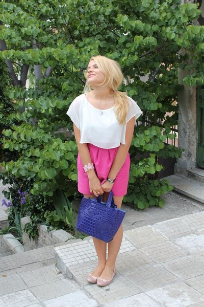 navy leather bag furla bags pink zara skirts white zara blouses light pins quot happiness