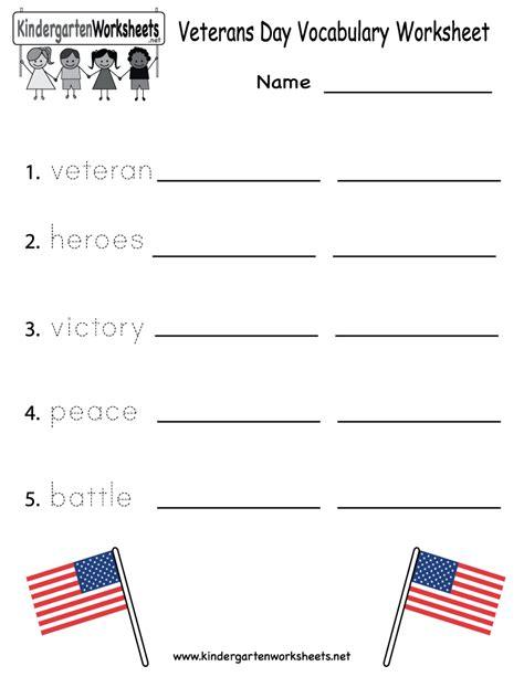 Printable Worksheets Veterans Day | free printable veterans day vocabulary worksheet for