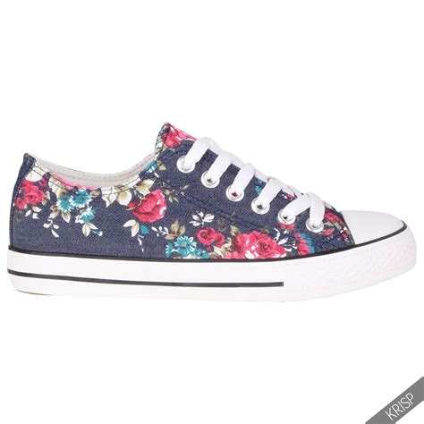 womens sneakers fashion womens floral plain leopard low top fashion trainers flat