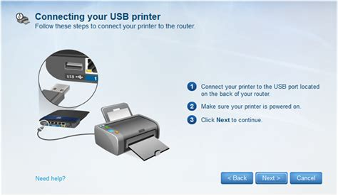 Router Printer linksys official support connecting a usb printer to