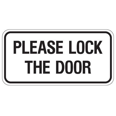 and lock the door door sign description the door sign