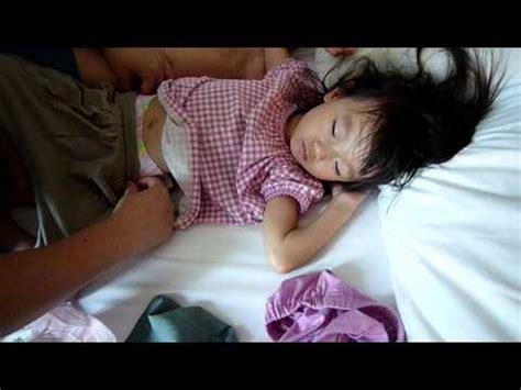 pt hc cum 100828 睡中換片片 diaper relaced for sleeping child youtube