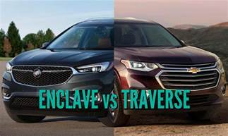 Chevrolet Traverse Vs Buick Enclave 2018 Buick Enclave Vs Chevrolet Traverse What Are The