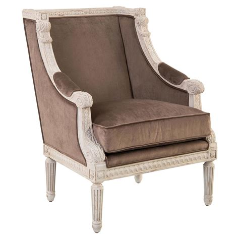 french country armchair cotillard french country antique white brown velvet armchair