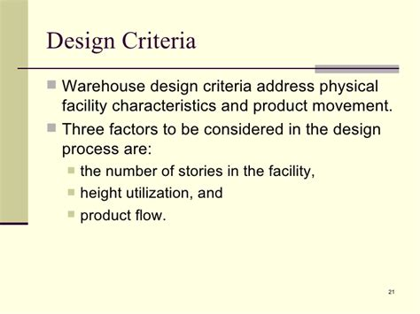 Warehouse Layout Design Criteria | 10 warehouse management