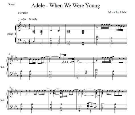 download song when we were young by adele in mp3 adele when we were young piano sheet