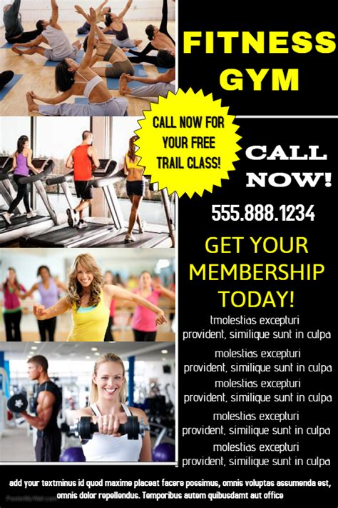 templates for advertisement posters fitness gym advertisement poster template fitness