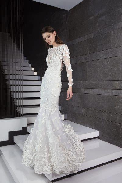 Long Sleeve Doral Applique Mermaid  Ee  Wedding Ee    Ee  Dress Ee