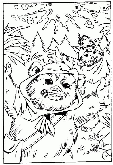 Ewok Coloring Page free coloring pages of starwars ewok