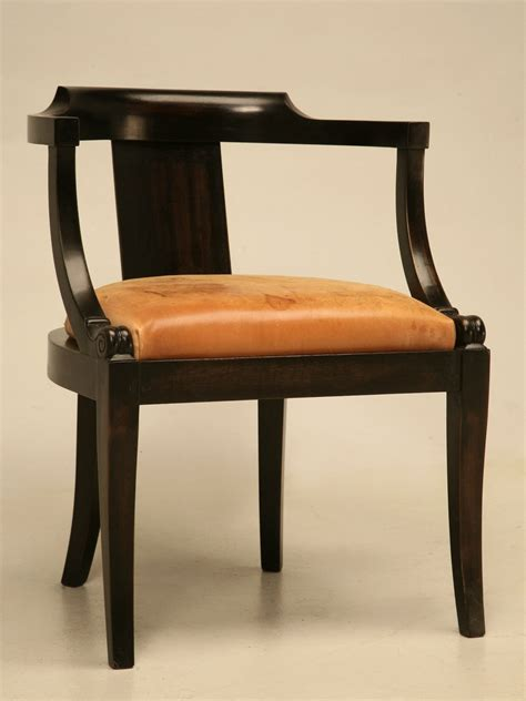 Antique Office Chair by Ebonized Mahogany Antique Desk Chair With A Leather