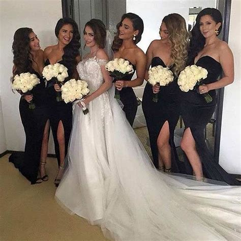 black dresses for wedding bridesmaid best 25 black weddings ideas only on black