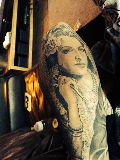 jesus lopez tattoo jesus helguera by jose lopez lowrider tattoos california