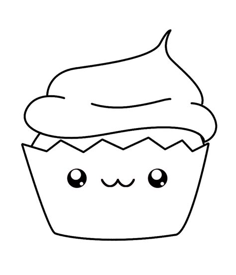 cute cupcake coloring pages for kids coloringstar