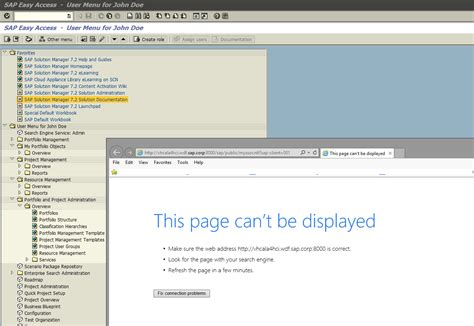 that page can t be sap solution manager 7 2 in sap cal this page can t be displayed error message fix sap blogs