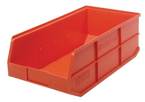 plastic stackable shelf storage bins ssb485 20 1 2 quot x