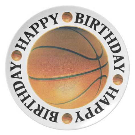 Imagenes De Happy Birthday Basketball | happy birthday basketball dinner plate zazzle