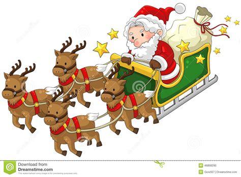 imagenes del reno de santa claus santa claus en un trineo del reno en la navidad en blanco