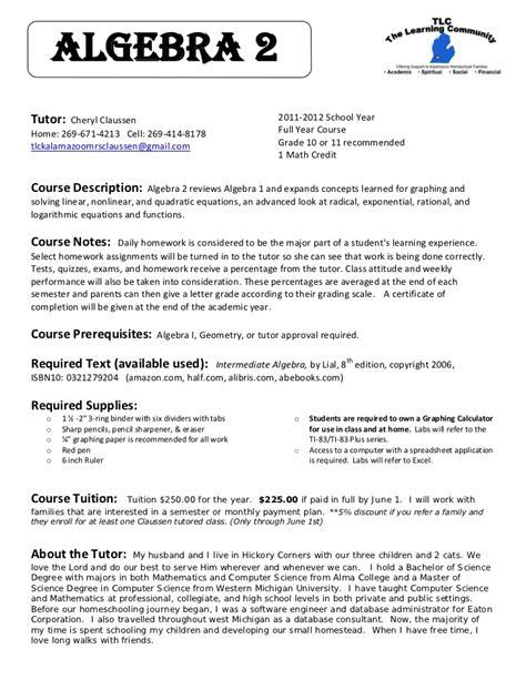 language 2 syllabus 2012 claussen algebra 2 syllabus