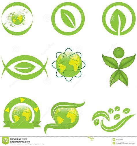 green yellow logo ecology symbols and logo royalty free stock photo image