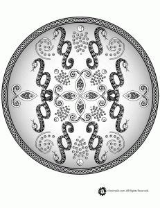 snake mandala coloring pages 1000 images about mandalas coloring pages on