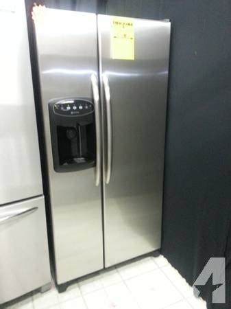 stainless steel apartment size refrigerator side x side