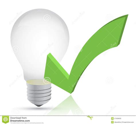 light bulb checker light bulb and check illustration stock photos