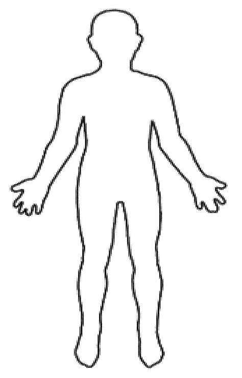 Human Body Outline Clipart Clipart Suggest Human Template