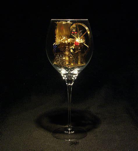awesome wine glasses awesome miniature artworks inside a wine glass thearthunters