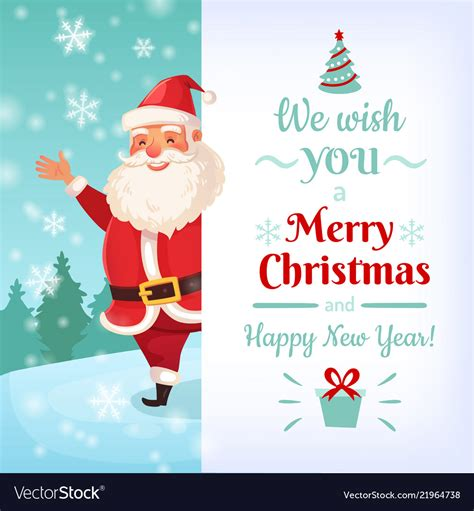 merry christmas card santa claus greeting cards vector image