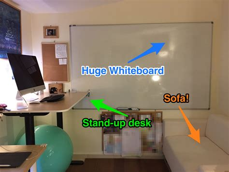 whiteboard design at home my home office 2016 whiteboard stand up desk chill out