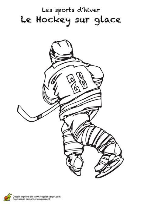 college hockey coloring pages dessin d un joueur de hockey vu de dos 224 colorier