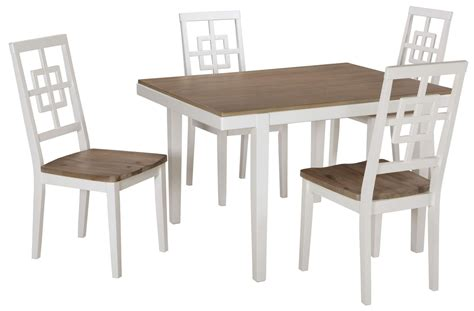 Two Tone Dining Room Sets Brovada Two Tone Rectangular Dining Room Set D298 225