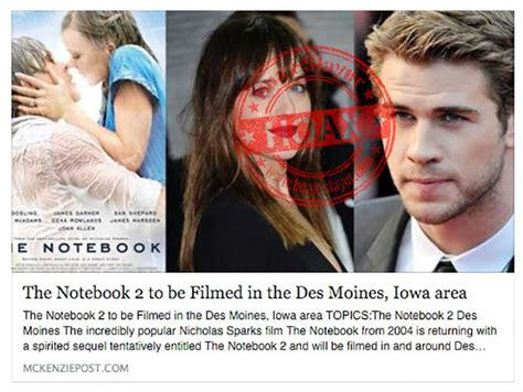 film notebook the notebook 2 movie claims are a hoax hoax slayer