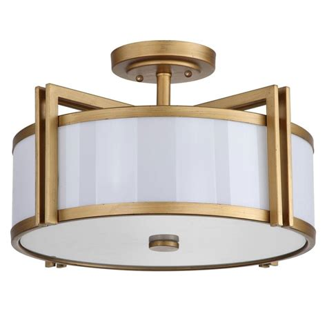 Gold Flush Mount Ceiling Light Safavieh Orb 3 Light Antique Gold Semi Flush Mount Light Lit4186a The Home Depot