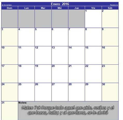 Calendario Cristiano Calendario Cristiano 2016 Mes A Mes Y Completo Imagenes