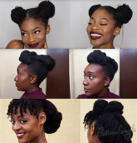 easy at home black hairstyles top 6 quick easy natural hair updos betterlength hair