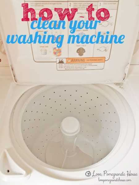 How To Clean Your by How To Clean Your Washing Machine Home And Garden
