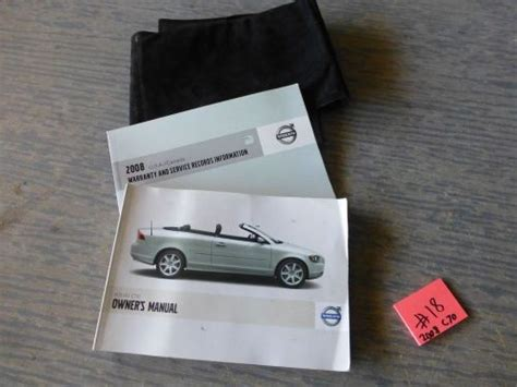 book repair manual 2008 volvo c70 head up display purchase 2008 volvo c70 convertible owners manual and case 18 motorcycle in pompano beach